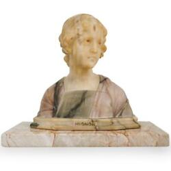 Giovanni Bessi Italy, B.1857 - 1922, Mignon Marble And Alabaster Bust 14 H