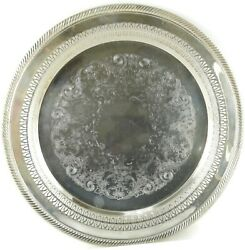 Vintage Wm Rogers Silverplate Round Reticulated Serving Platter 170