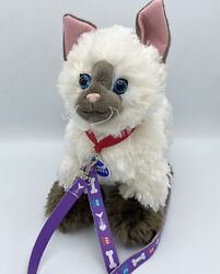 Build A Bear Promise Pets Siamese Cat Himalayan Plush White Brown Blue Eyes 12quot;