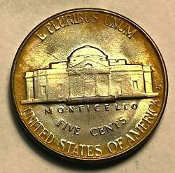 1950-d Jefferson Nickel Choice To Gem Uncirculated Neat Patina Chn