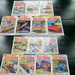 Lot Of 14 Assorted Classic Toy Trains Magazine From 1995,1996,1997 Model Trains