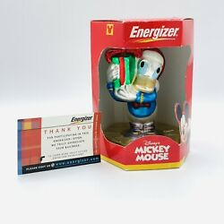 Disney's Mickey Mouse Energizer Donald Duck Handcrafted Glass Christmas Ornament