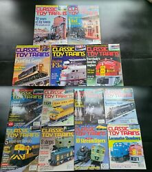 Lot Of 13 Assorted Classic Toy Trains Magazine From 1998,2000, 2001 Model Trains