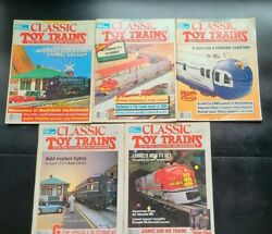 Lot Of 5 Assorted Vintage 1991 Classic Toy Trains Magazine Model Trains