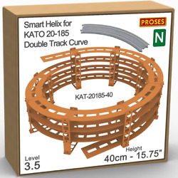 N Helix For Kato 20-185 Double Track R447/480mm Or Similar - Height 40cm/15.8