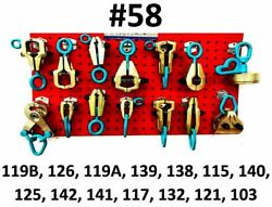 Set58 Heavy Duty Auto Body Frame Machine 14 Piece Super Pulling Tools Clamps