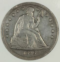 Old Anacs Xf Details 1846-o Seated Liberty Dollar 1 - 1st Branch Mint Dollar