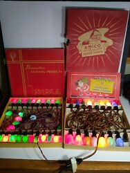 Vintage Amico And Noma Htf C-9 C-7 Christmas Lights Multi-color Sets