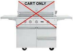 Nib Viking 42 Inch Stainless Grill Cart With Storage Drawers And Shelves Bqc5421ss