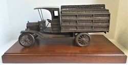Vintage Coca Cola Bronze 1927 Ford Bottle Delivery Truck Employee Service Award
