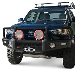 For Toyota Tacoma 16-20 Bumper Summit Full Width Textured Black Front Winch Hd