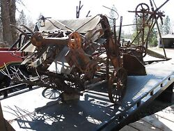 Mccormick Deering Wheat Binder For Restoration...save This Historical Machine