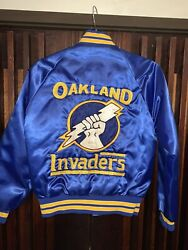 Rare Find Usfl Oakland Invaders Jacket Sz. 32-xs-34 Great Condition Hardly Used
