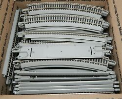 90 Piece Used Ho Scale Bachmann E-z Track Lot Bundle Great Condition Used
