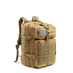1521.6oz Tactical Army Military 3d Molle Assault School Backpack Outdoor Hiking