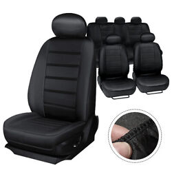 Meco Universal Five Seat Car Seat Covers Front Rear Head Rests Full Set Auto