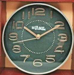 7.9 Inch Round Wall Clock Silent Non Ticking Quartz Battery Easy to Read