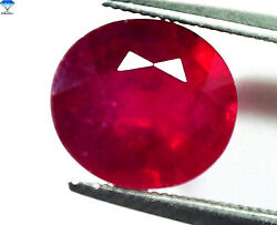 Ruby / Ruby - Oval Facetted 0 11/32x0 13/32in 1238e