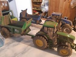 Britains Conversion Weathered John Deere 6195 Tractor And Spreader Of Your Choice