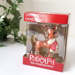 Carlton Heirloom 2011 Rudolph The Red Nosed Reindeer With Stocking Xmas Ornament