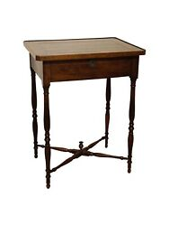 Antique English Victorian Walnut Side Or Sewing Table Circa 1860.