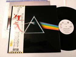 Pink Floyd The Dark Side Of The Moon Japan Promo White Label Op-80778 Obi, Book