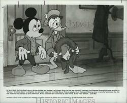 1984 Press Photo Mickey Mouse And Donald Duck In Mickeyand039s Christmas Carol