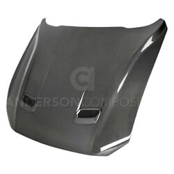 For Ford Mustang 18 Ac-hd18fdmu--ds -style Double Sided Gloss Carbon Fiber Hood