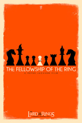 Lotr Fellowship Of The Ring Limited Screen Print Art Poster 40 12 X 18