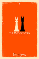 Lotr The Two Towers Limited Screen Print Art Poster 40 12 X 18