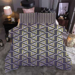 Staggered Triangles 3d Print Duvet Quilt Doona Covers Pillow Case Bedding Sets