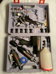Husky 4-tool, 24-pc Impact Wrench And Air Tool Set With Paint Sprayer
