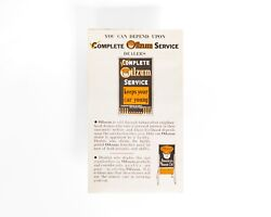 Oilzum Motor Oil 1930's Tri Fold Service Station Brochure Sign And Oil Can Graphic