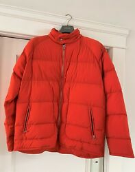 Hermes Man Piumino Extra-light Down Jacket. Size Xl In Iconic Orange. Pre-owned