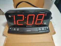 SHARP LED Alarm Clock with Nightlight and Jumbo Red Display 🆓 Shipping A5