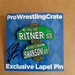 Pro Wrestling Crate Pin Ritner. And Swanson St. Tommy Dreamer Autograph Ecw