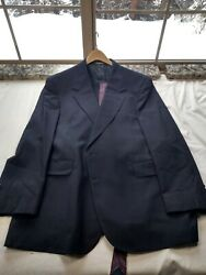 Evan-picone For Foley's Men's Wool Suit Jacket With Pants And Tie Size 46 L. Q8