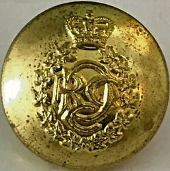 Royal Canadian Dental Corps Rcdc Brass Button With Queen's Crown