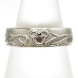 Disney Platinum 950 Ring 8 Size Natural Stone About8.3g Free Shipping Used