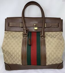 Monogram Web Sherry Boston Xl Weekend Bag Travel Carry-on Authentic ❤️