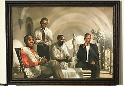 THE PIONEERS FAMOUS AFRICAN AMERICANS OBAMA MLK BLACK ART NICE FRAME