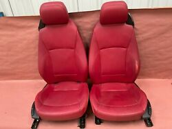 Leather Red Interior Seats Pair Seat Bmw E85 E86 Z4 Roadster Oem 95k Rare