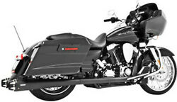 Freedom American Outlaw Black Duals Motorcycle Exhaust 09-15 Harley Touring Flhx
