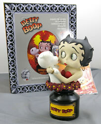 Betty Boop And Pudgy 10 Hand Painted Statue Bust Legends In 3 Dimension Porcelain
