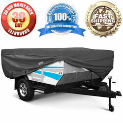 Waterproof Travel Trailer Storage Cover Fits 18and039-20and039 Trailers Folding Camper