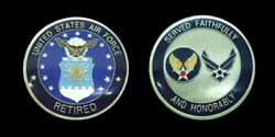 United States Air Force Retired Challenge Coin Military Coins New
