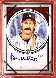 Don Mattingly Ny Yankees 2018 Topps Transcendent On Card Autograph Red 1/1
