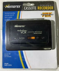 Memorex Cassette Recorder Voice Activated One Touch Rec Built-in Speaker Mb1055