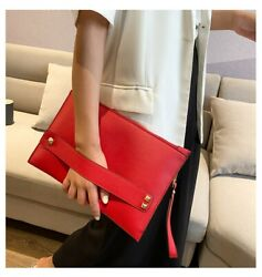 Luxury Clutch Handbags Women Bags Leather Designer zipper Evening Women Envelope $9.49