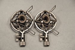 Pair Of High Quality Small Condenser Microphone Shock Mounts